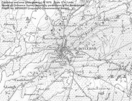 Castlebar map 1870, Click to enlarge