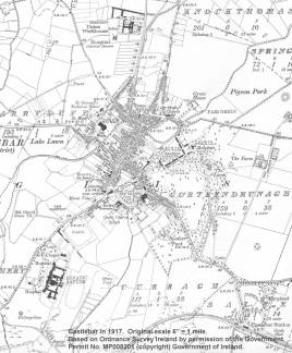 Castlebar map 1917, Click to enlarge