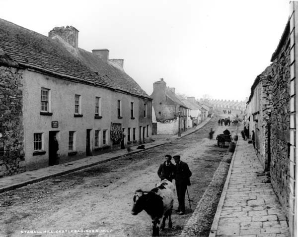 Staball Hill, early 1900s, Castlebar, Co. Mayo, Ireland. Information Age Town.