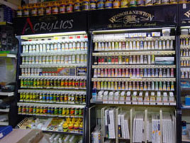 Retail and shopping art supplies artists materials mandels art shop